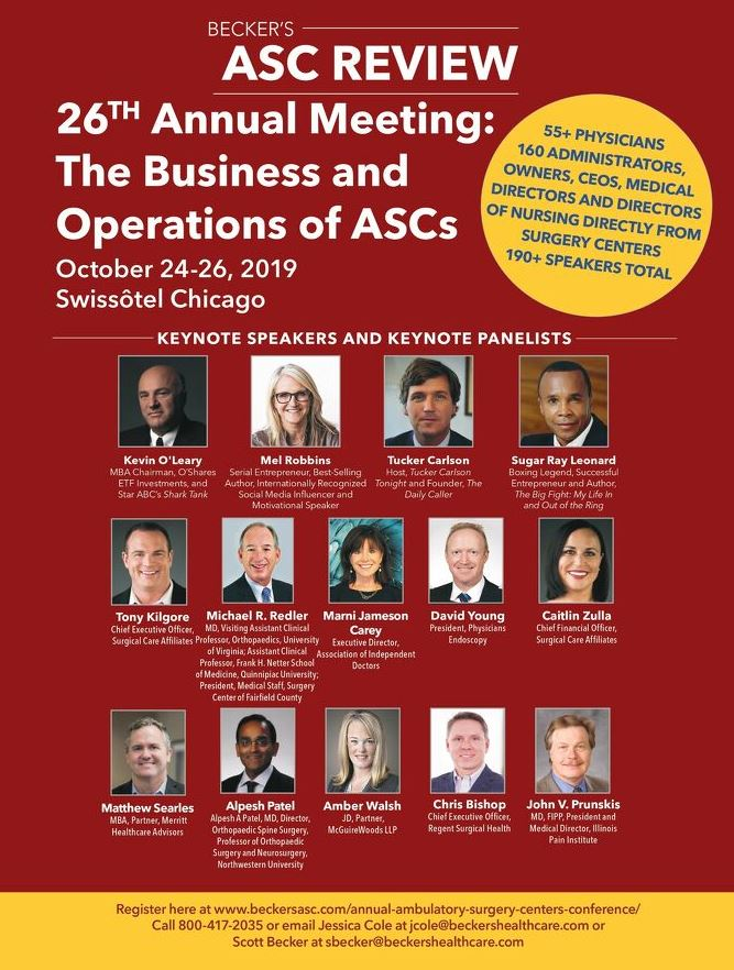 Becker's ASC 25th Annual Meeting: The Business and