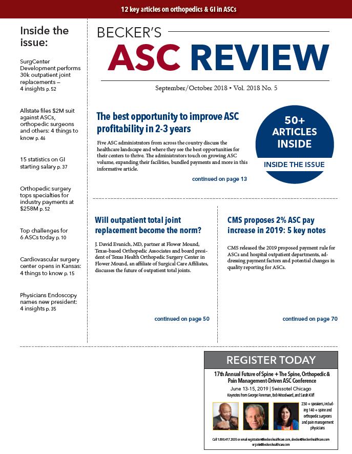 September/October, 2018, ASC Review