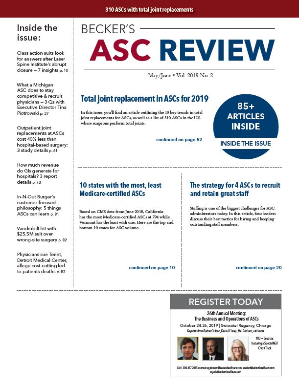 May/June Issue of Becker's ASC Review