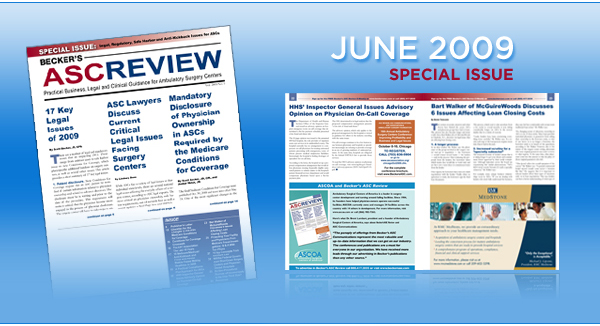 Becker's ASC Review - Current Special Issue - June 2009