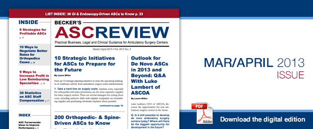 Becker's ASC Review - Current Issue