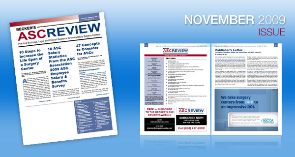 Becker's ASC Review - Current Issue - November 2009