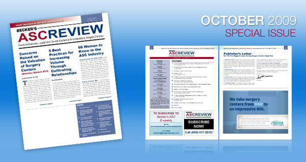 Becker's ASC Review - Current Issue - September 2009