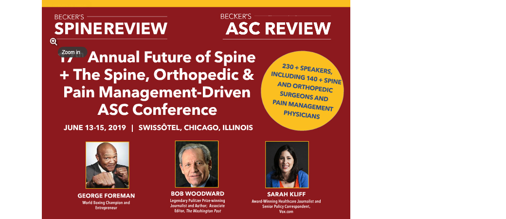 Becker's 17th Annual Future of Spine + The Spine, Orthopedic and